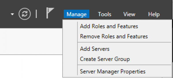 Server Manager Add Roles and Features